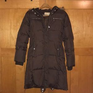 Michael Kors down coat with removable faux fur